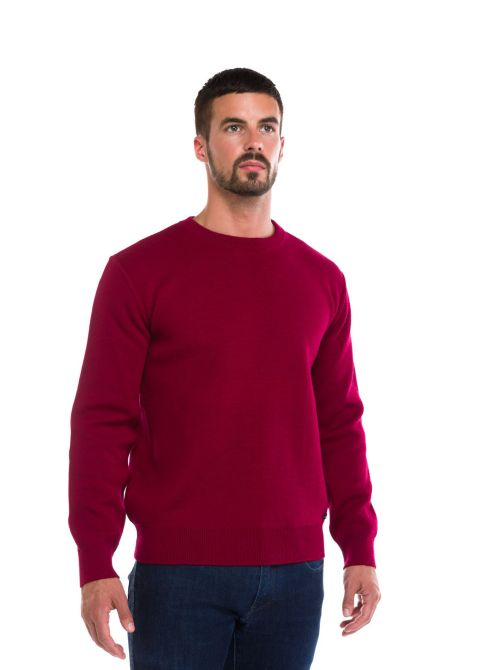 Pull homme laine Marin col ras du cou ALBAN