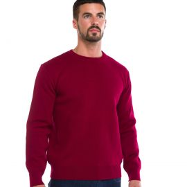 ALBAN pull homme laine col ras du cou