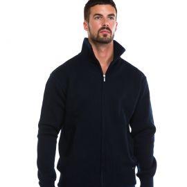 Veste tricot zippée homme