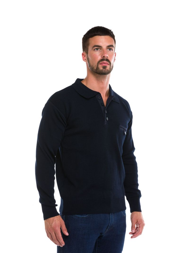 Pull homme col polo