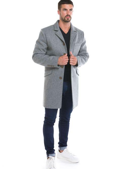 MENTON manteau homme laine imperméable