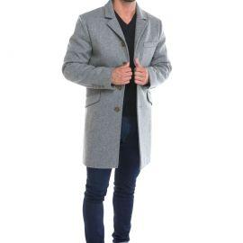 MENTON manteau homme ajusté laine imperméable