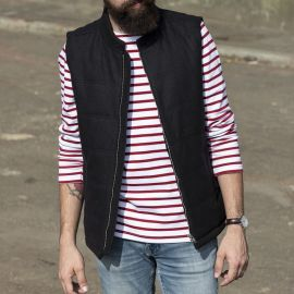 COMBLOUX vest sleeveless quilted men