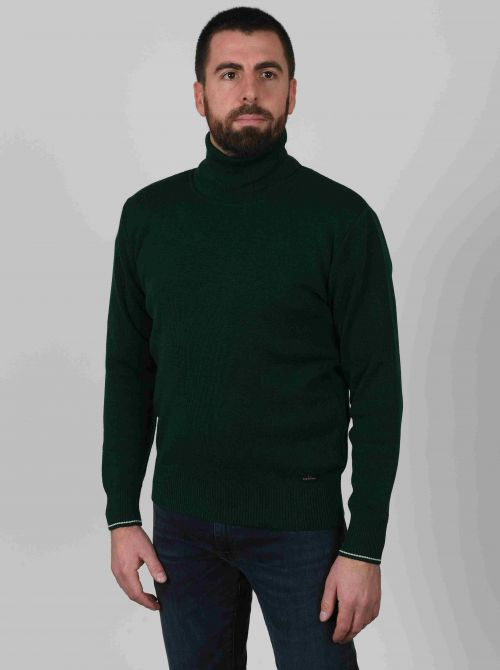 AUREL sweater men turtleneck made of wool