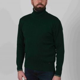 AUREL pull homme col roulé laine