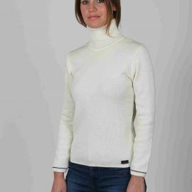 AURELIE pull femme col roulé laine