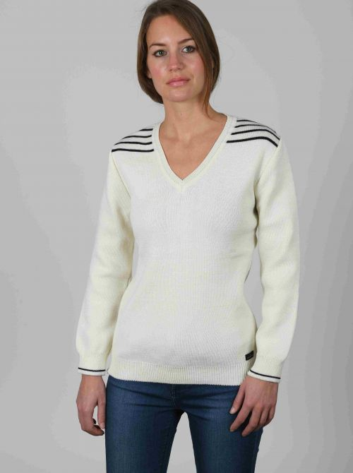 AMELIE sweater women V-neck made of wool