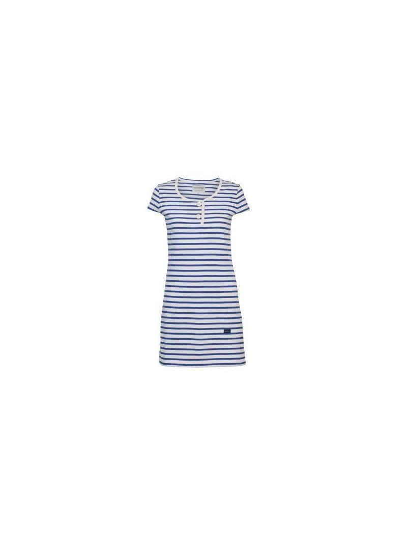 Short dress in striped cotton TAHITI