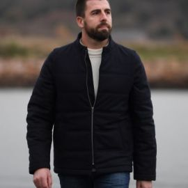 BADEN quilted jacket men removables sleeves