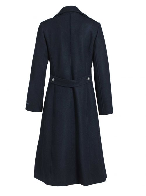 Long and waisted coat for women CARNAC