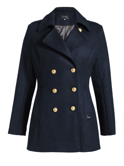 DETROIT OR pea coat women fitted cut cashmere