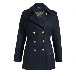 Waisted pea coat for women DETROIT cashmere quality