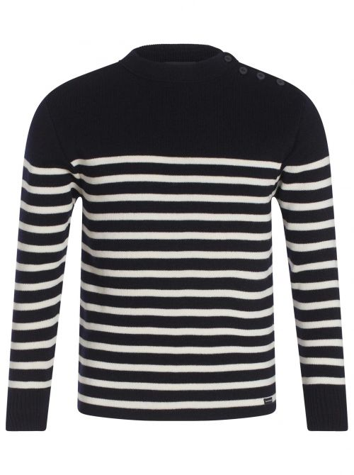 Pull marin mixte 50% laine NATIONAL