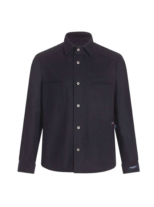 Short, un-lined,woolen jacket for men made of wool PARIS