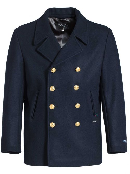 TOULON pea coat men straight cut French Navy made of wool