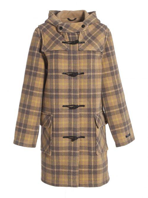 LIVERPOOL duffle coat femme extérieur écossais laine imperméable