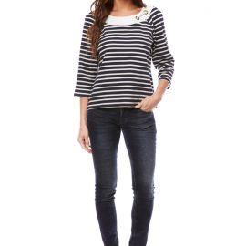 ST-CAST 3/4 sleeved breton shirt women