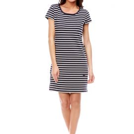 Short dress in striped cotton TOURS