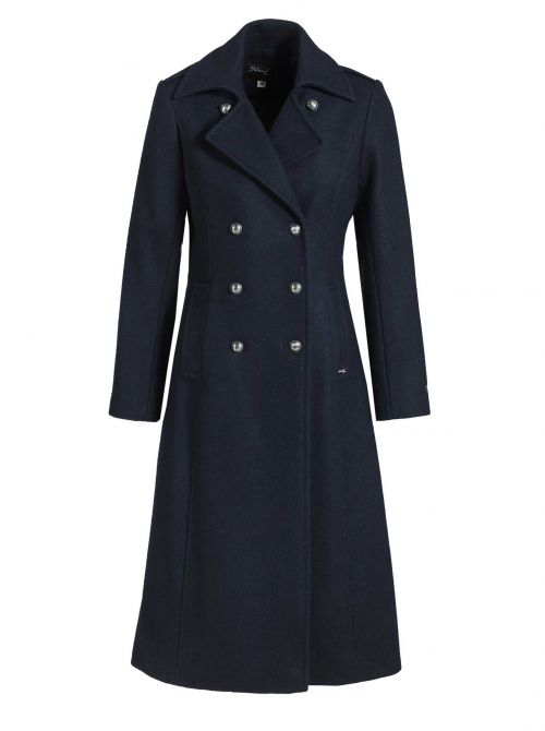 CARNAC peat coat women fitted cut cashmere