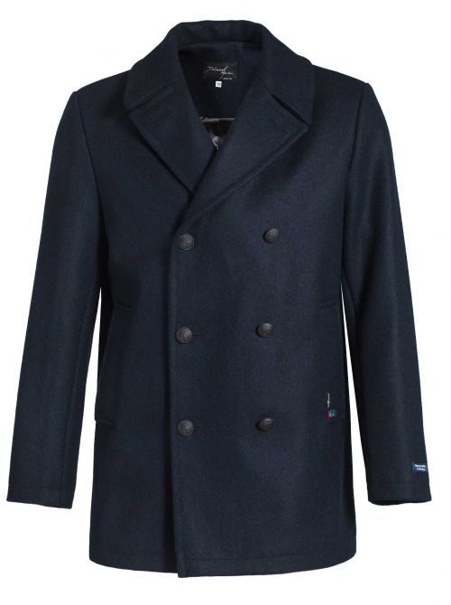 OSLO LONG pea coat men straight cut made of wool