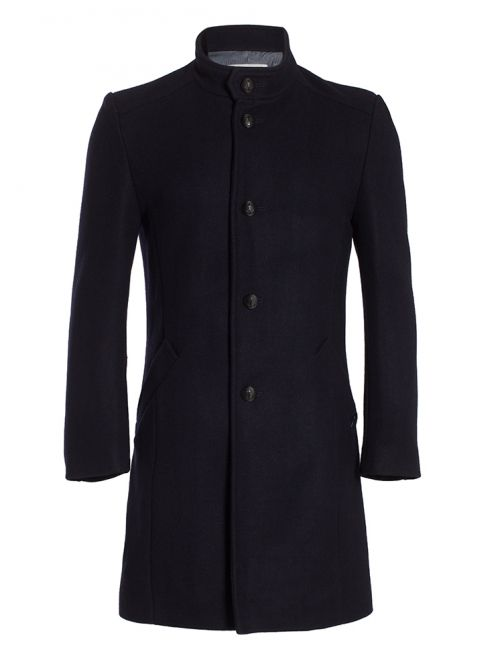 Manteau homme col officier veritable drap de caban MILAN