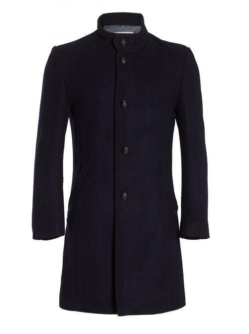 MILAN manteau homme col officier cachemire