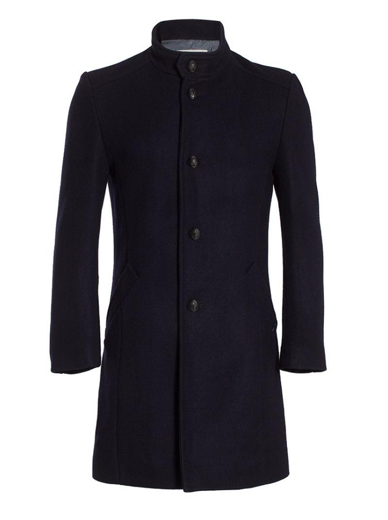 Manteau femme avec col officier