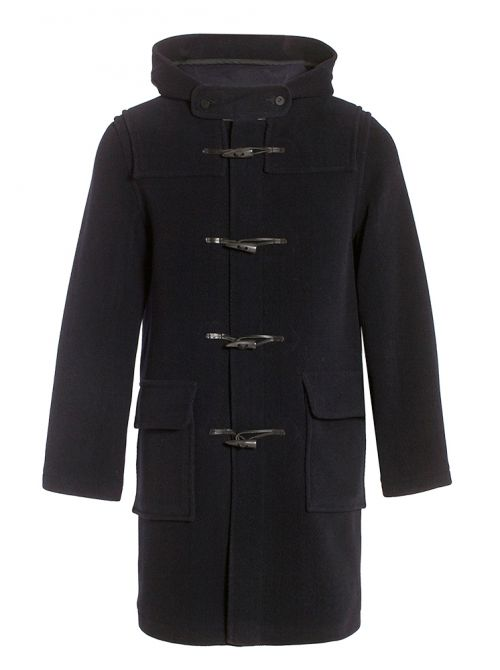 LONDRES duffle coat homme à chevrons en laine imperméable