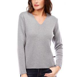 AVIGNON sweater women merinos wool V-neck