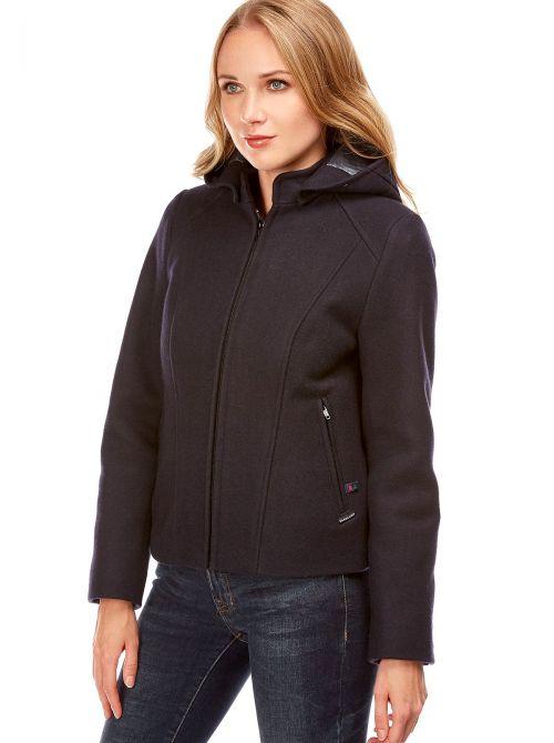 LA BAULE veste femme courte en laine imperméable