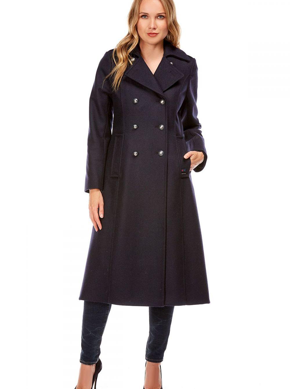 manteau long femme en laine carnac la maison du caban by dalmard marine. Black Bedroom Furniture Sets. Home Design Ideas