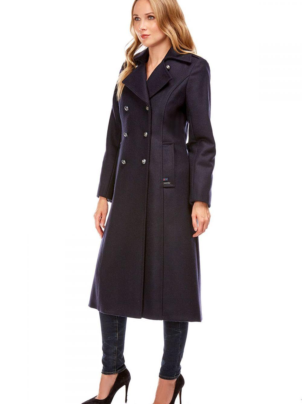 manteau long femme carnac qualit cachemire la maison du caban by dalmard marine. Black Bedroom Furniture Sets. Home Design Ideas